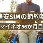 格安simの節約額 マイネオ56か月目